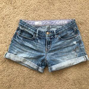 GAP Destructed Denim Shorts